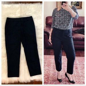 LOFT new navy blue Zoe fit ankle pants lined lacy